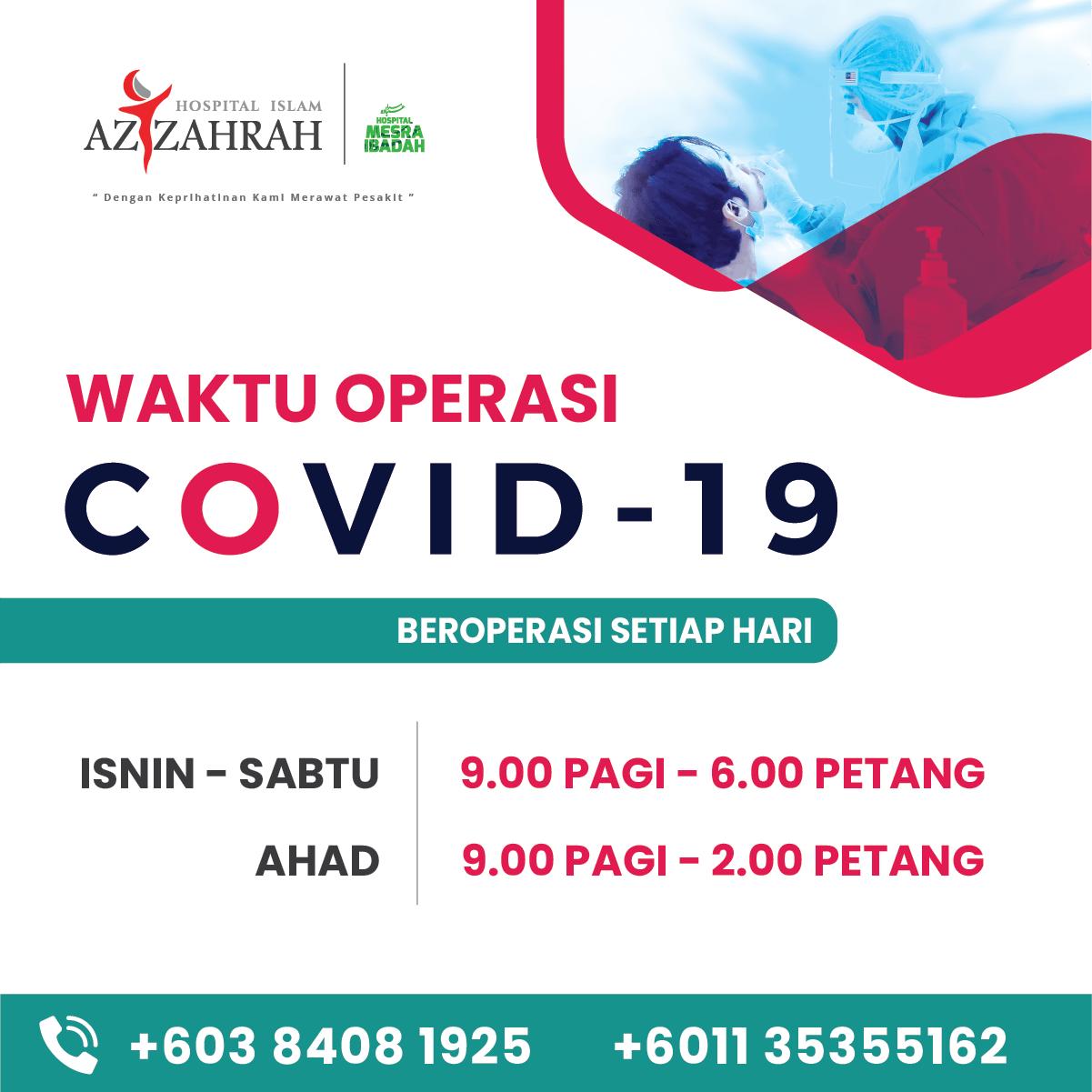 SARINGAN COVID-19, HOSPITAL ISLAM AZ-ZAHRAH 2021